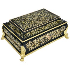 Louis XIV Jewelry Decorative Marquetry Box, France, 1860