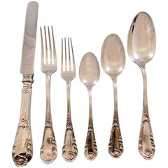 Louis XIV Old Style by D&H Sterling Silver Flatware Set 12 Service 72 Pcs Dinner