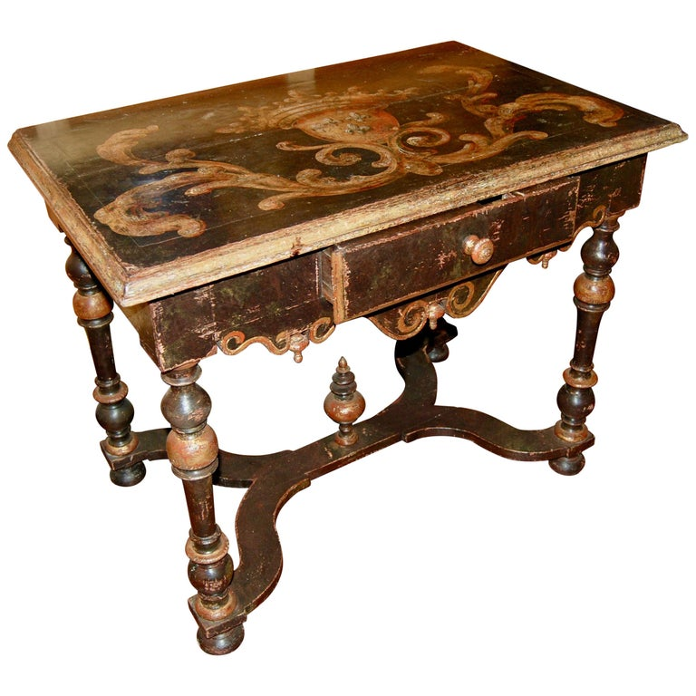 Louis XIV Painted Writing Table For Sale