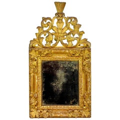 Louis XIV Period Carved Giltwood Mirror