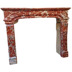 Louis XIV Rust Marble Mantel