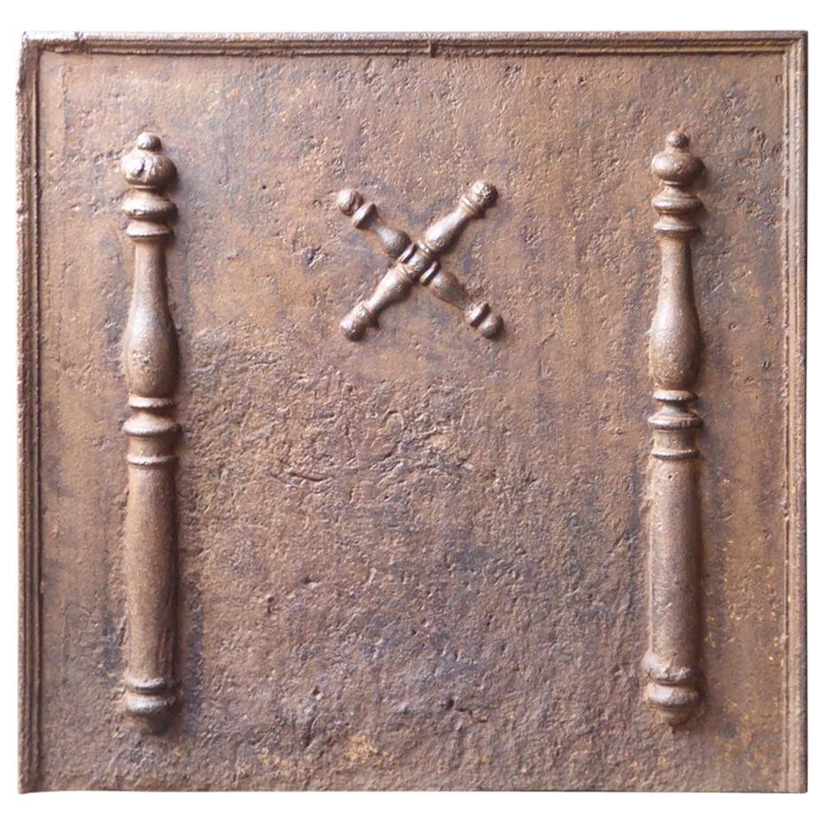 Louis XIV 'Saint Andrew's Cross' Fireback, 18th Century French