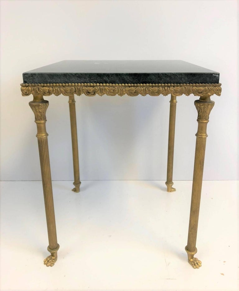 Louis XIV Style Bronze and Marble Nesting Tables In Good Condition For Sale In New York, NY