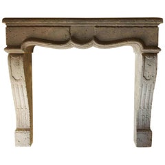 Louis XIV Style Fireplace, Handcrafted in Pure Limestone from France