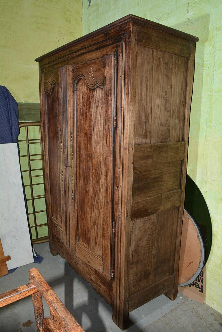 Hand-Crafted Louis XIV Style French Armoire For Sale