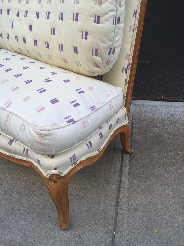 Wood Louis XIV Style French Loveseat For Sale