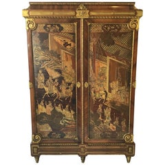 Francois Linke Louis XIV Style  Kingwood and Coromandel Armoire