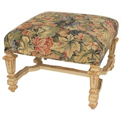 Louis XIV Style Painted and Partial Gilt Bench