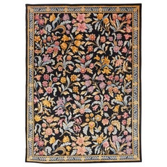 Louis XIV Style Hand Knotted Wool Large Rug