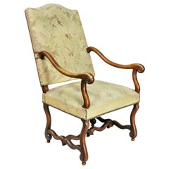 Louis XIV Walnut 'Os De Mouton' Armchair