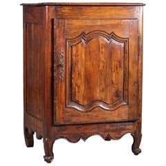 Louis XV Antique French Walnut Confit Cabinet Armoire, circa 1750