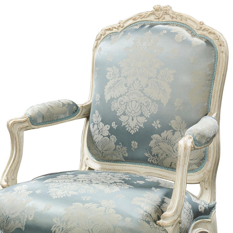 Louis XV Armchairs by Jean-René Nadal l'Ainé In Excellent Condition For Sale In New Orleans, LA