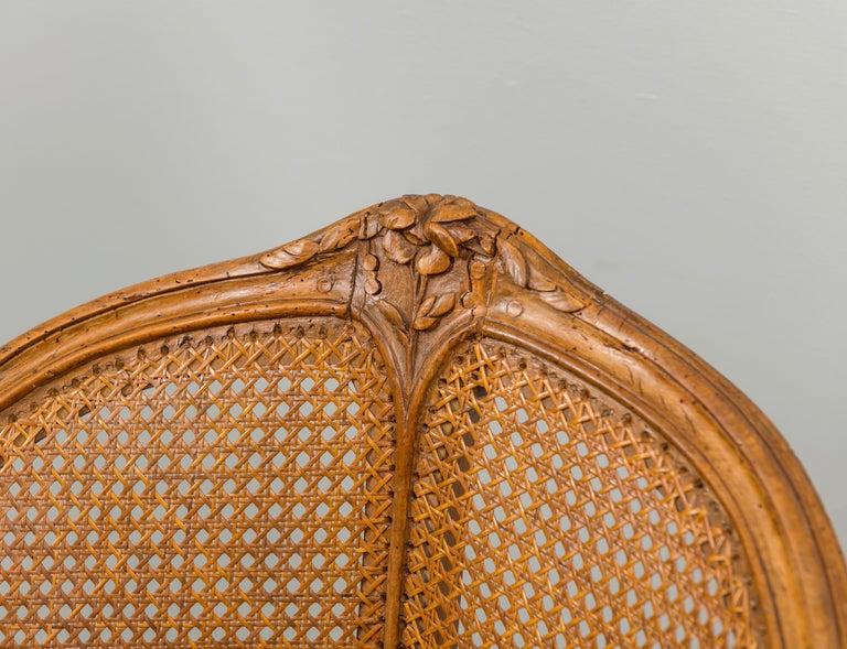 Louis XV Beechwood and Cane Fauteuil de Bureau For Sale 2