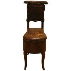 "Louis XV Bidet ""Chaise De Fumers"", Royal Court Carpenter Jean Girard Sar"