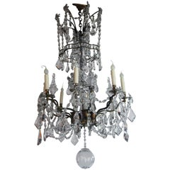 Louis XV Brass and Crystal Chandelier