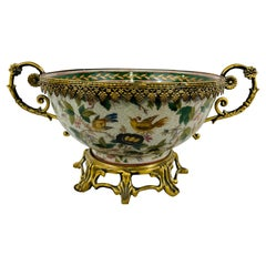 Louis XV Bronze Mounted Chinese Export Centerpiece Bowl or Vase