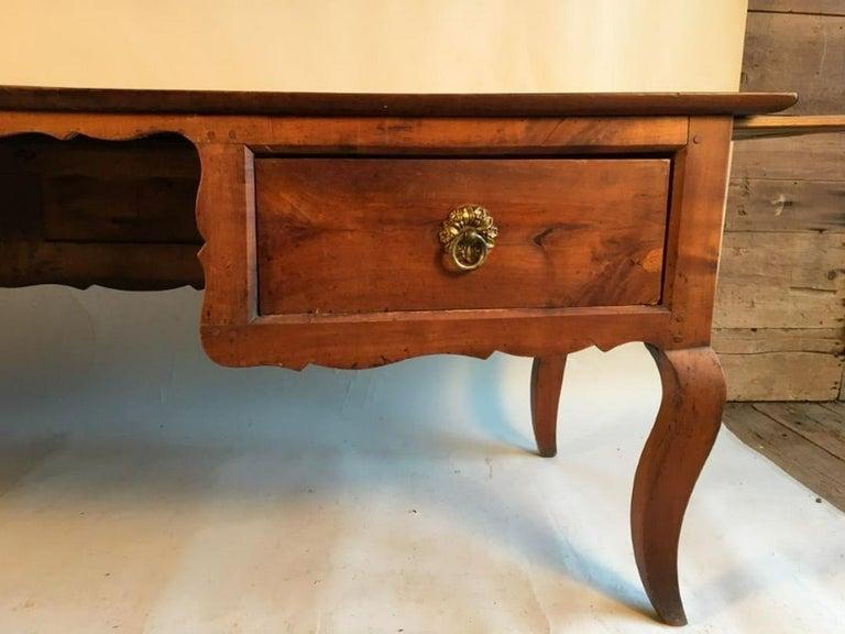French Louis XV Bureau Plat, Cherry, 18th Century For Sale
