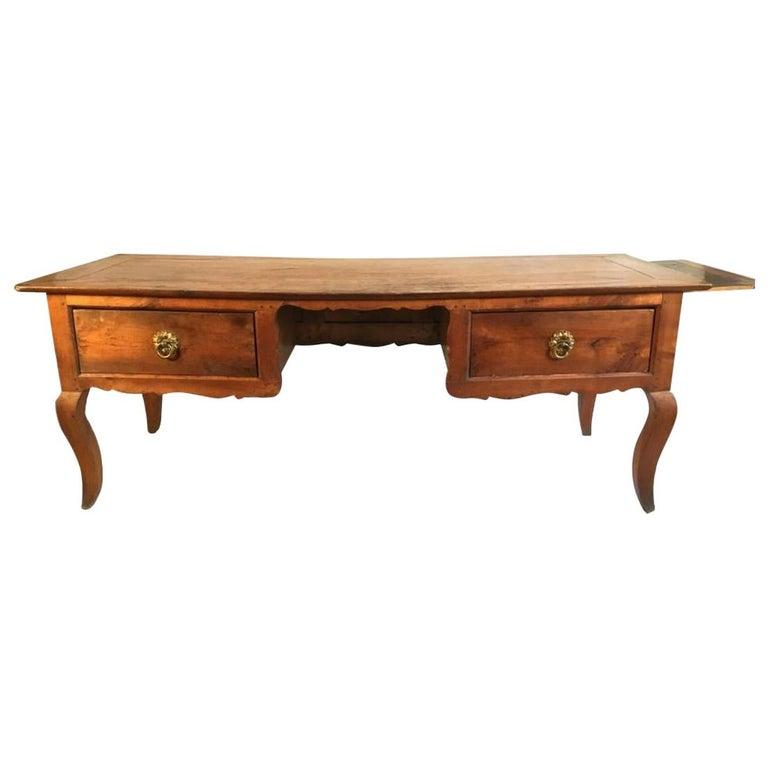 Louis XV Bureau Plat, Cherry, 18th Century For Sale