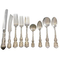 Louis XV by Whiting Sterling Silver Flatware Set for 12 Service 110 Pcs Dinner