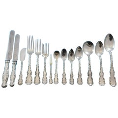 Louis XV by Whiting Sterling Silver Flatware Set for 12 Service 184 Pieces