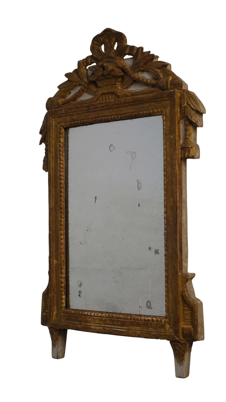 18th Century Louis XV Carved and Gilt Mirror, French, circa 1760 For Sale
