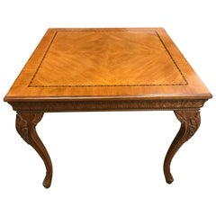 Louis XV Carved Fruitwood Center Game Table