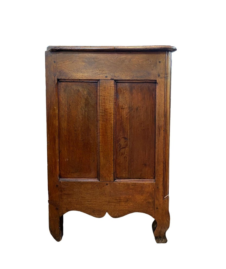 18th Century Louis XV Carved Walnut French Commode, Bresse Region, circa 1750 For Sale