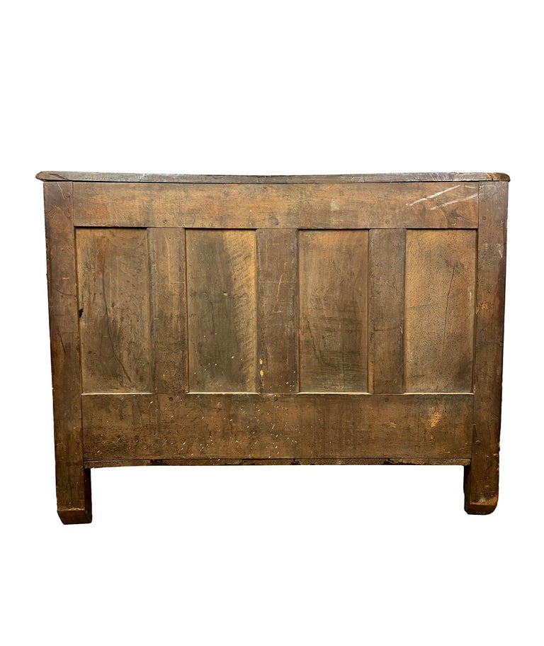 Louis XV Carved Walnut French Commode, Bresse Region, circa 1750 For Sale 1