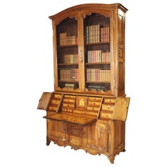 Louis XV Cherrywood Bibliotheque Scriban from Burgundy, France, circa 1750