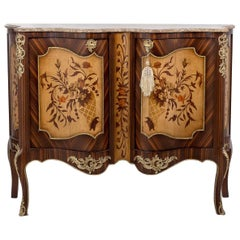 Louis XV Commode, Marble Top, 20th Century