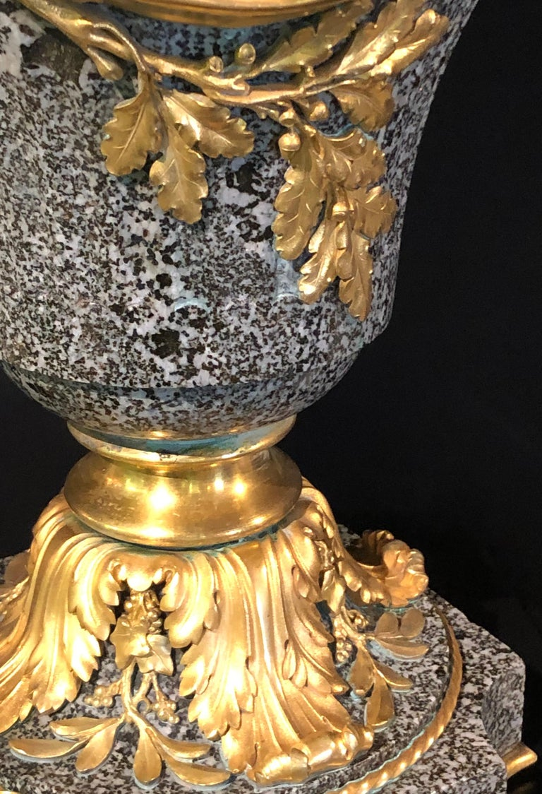 Louis XV Dore Bronze Mounted Ewer / Urn, 19th Century Granite For Sale 9