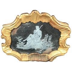 Louis XV Engraved Murano Gilt Mirror