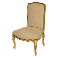 Louis XV French Style Gilt Slipper Chair