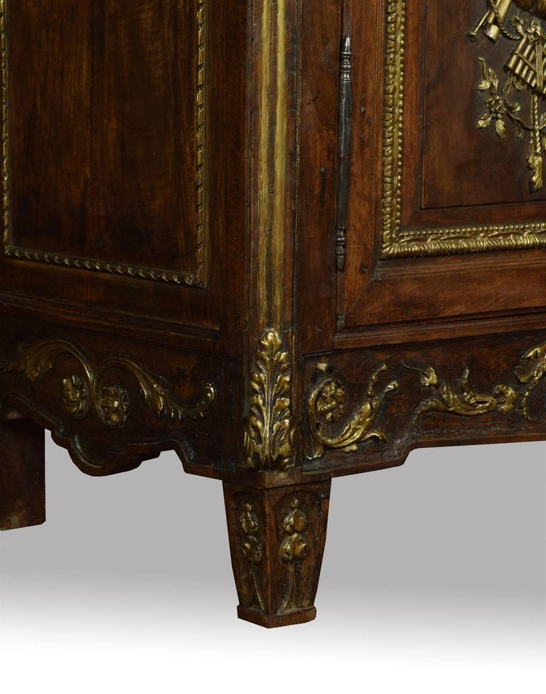 18th Century and Earlier Louis XV French Walnut Armoire