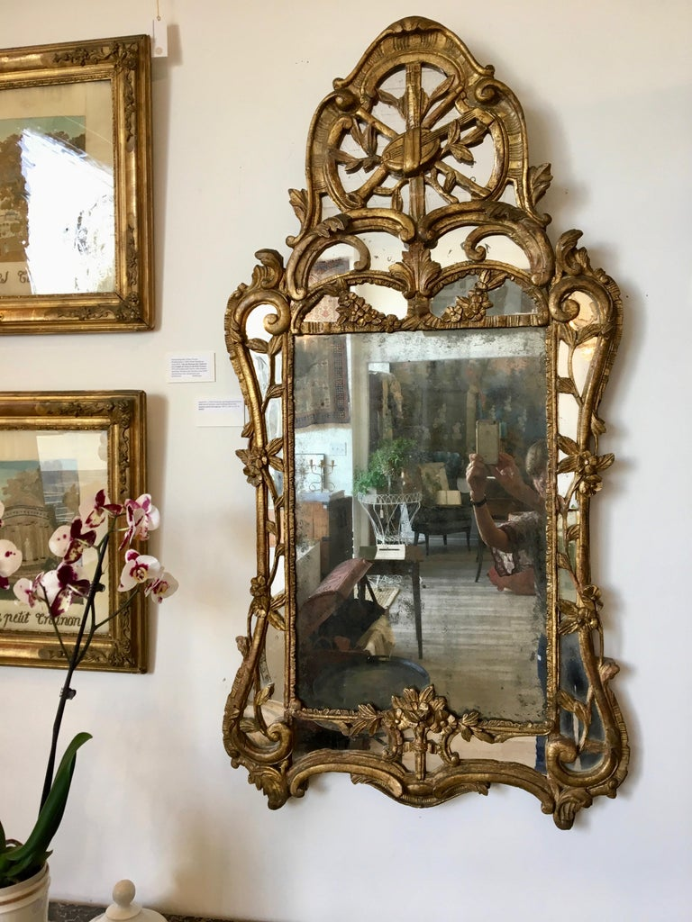Louis XV Giltwood Mirror In Good Condition For Sale In Doylestown, PA