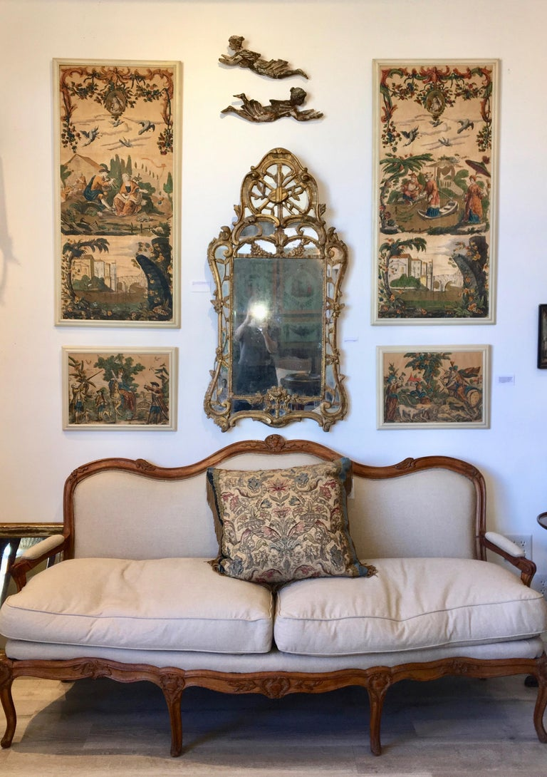 18th Century Louis XV Giltwood Mirror For Sale