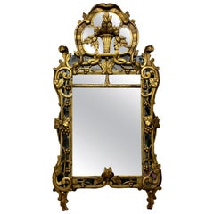 Louis XV Giltwood Mirror with the Original Looking Glass