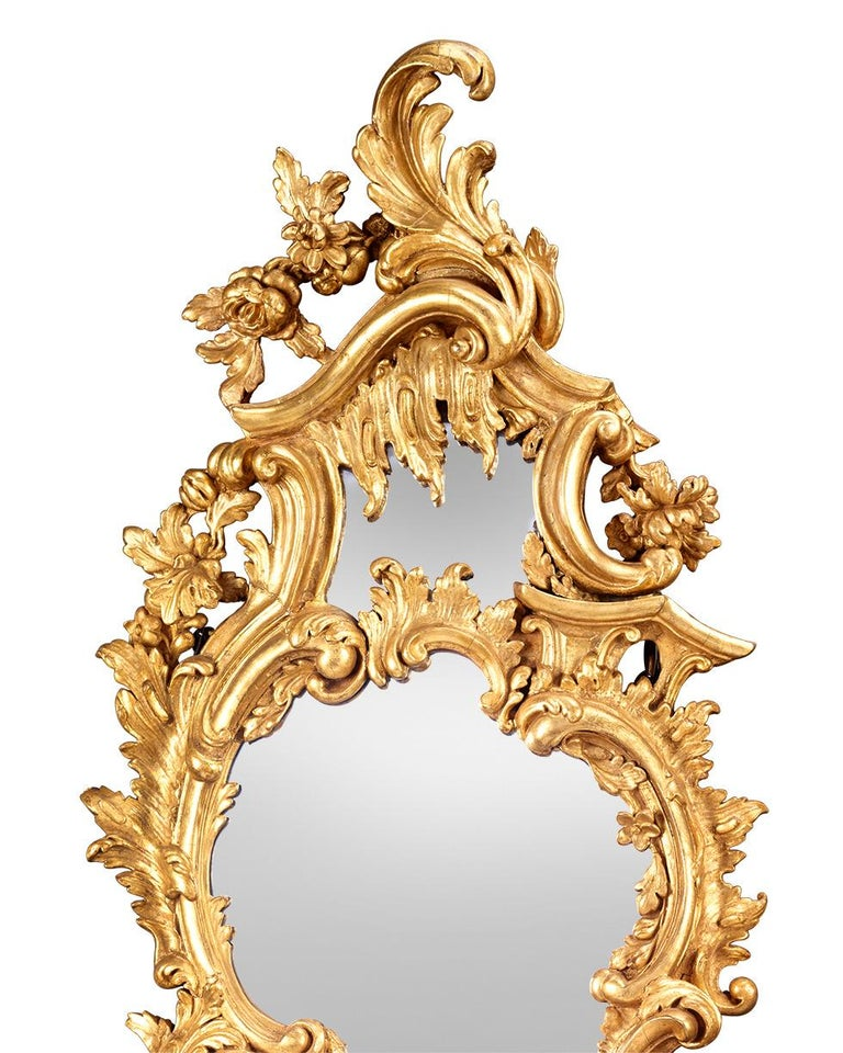 Louis XV Giltwood Mirrored Girandoles In Excellent Condition For Sale In New Orleans, LA