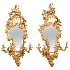 Louis XV Giltwood Mirrored Girandoles