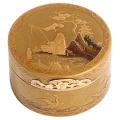 Louis XV Gold & Lacquer Snuff Box