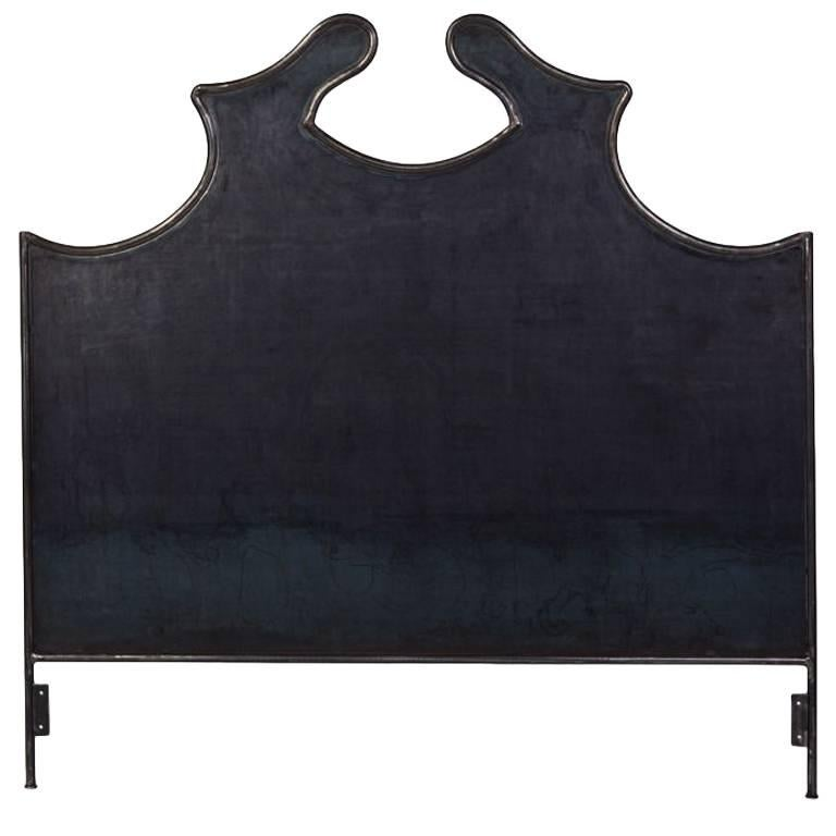 Hand-Crafted Louis XV Iron Headboard, Queen For Sale