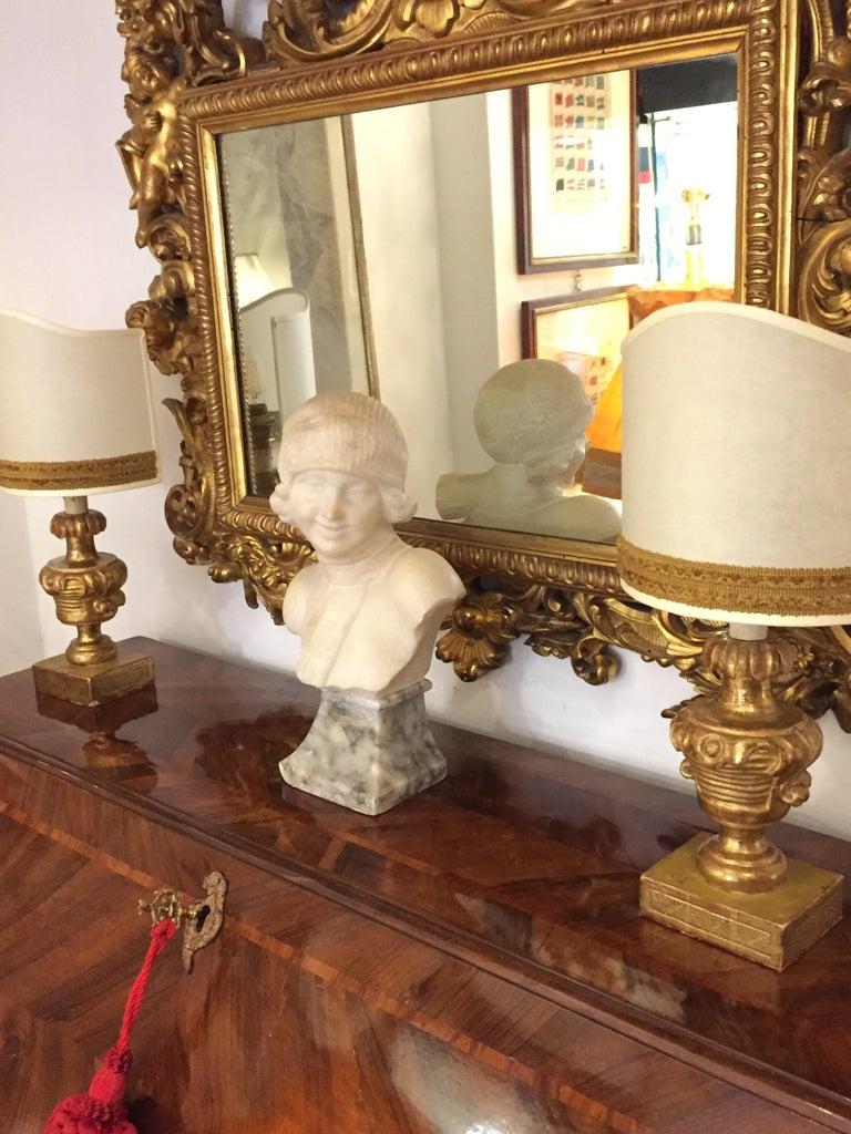 Louis XV Italian Drop Front Bureau from Genoa circa 1770 Walnut Veneered Inlaid  1