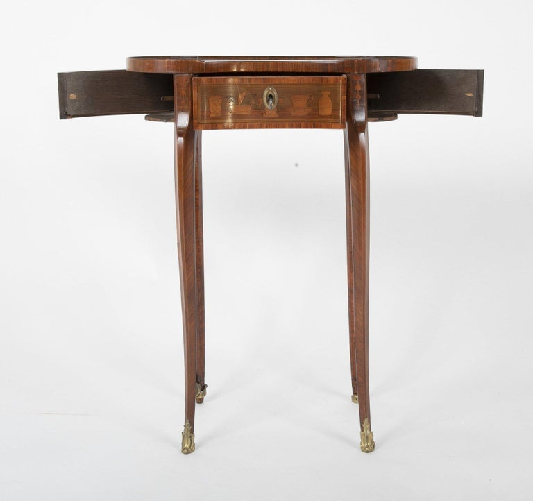 Louis XV Kidney Form Marquetry Table After Charles Topino For Sale 3