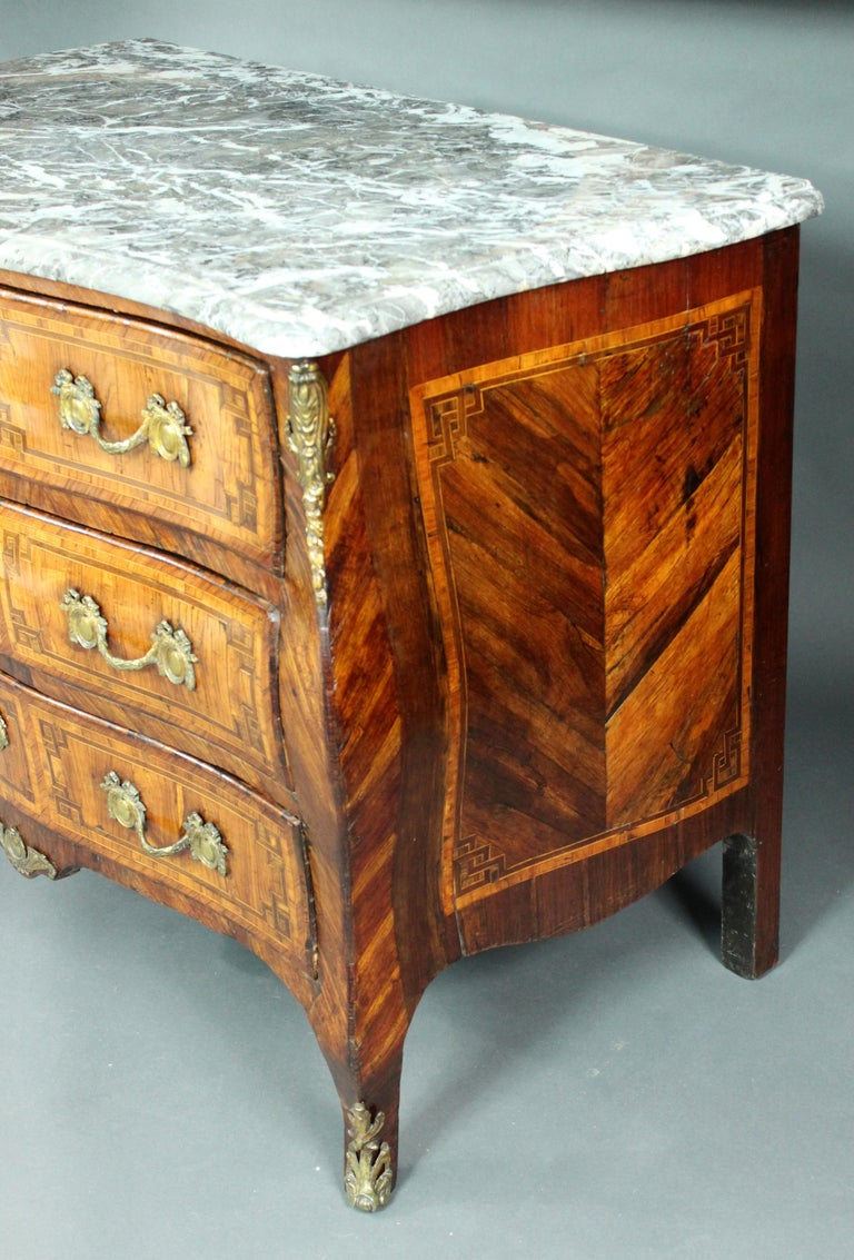 18th Century Louis XV Kingwood Commode For Sale