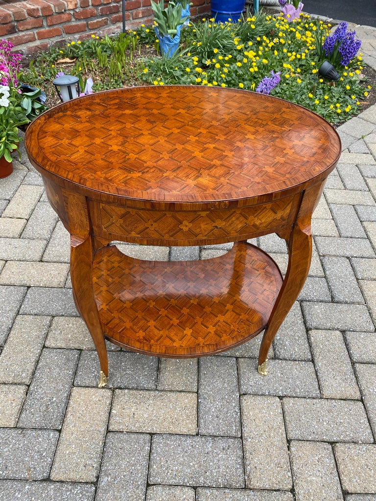 French Louis XV Parquetry Occasional Table, Circa 1760 For Sale