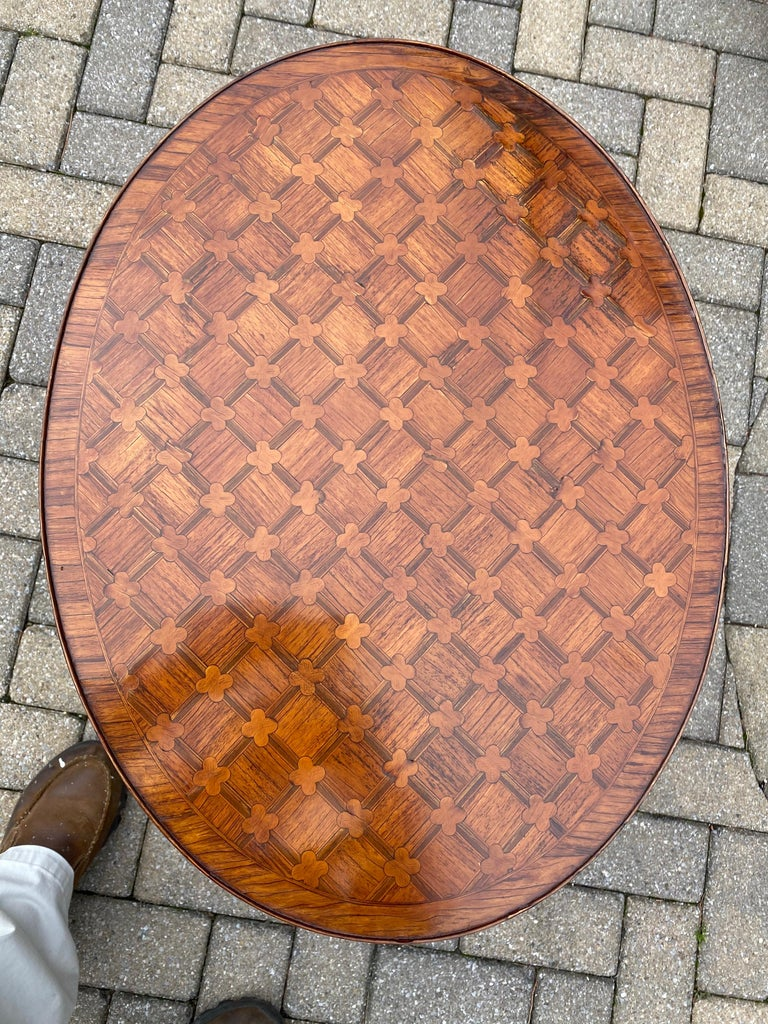 Polished Louis XV Parquetry Occasional Table, Circa 1760 For Sale