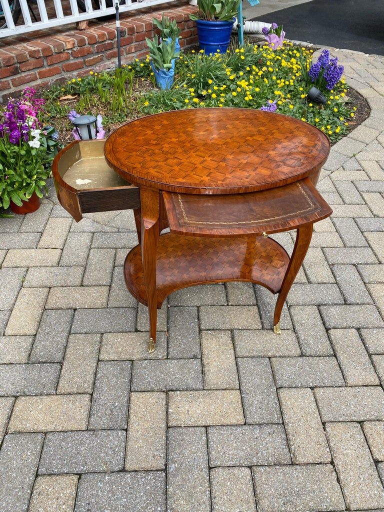 Louis XV Parquetry Occasional Table, Circa 1760 In Good Condition For Sale In New York, NY