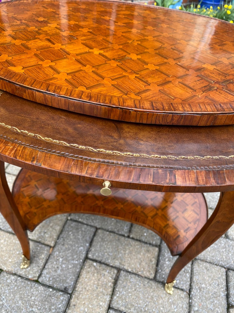 Bronze Louis XV Parquetry Occasional Table, Circa 1760 For Sale