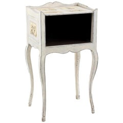 Louis XV Period Bedside Table in White Lacquered Wood, 18th Century
