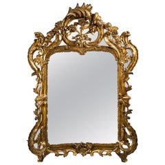 Louis XV Period Gilded Wood Mirror